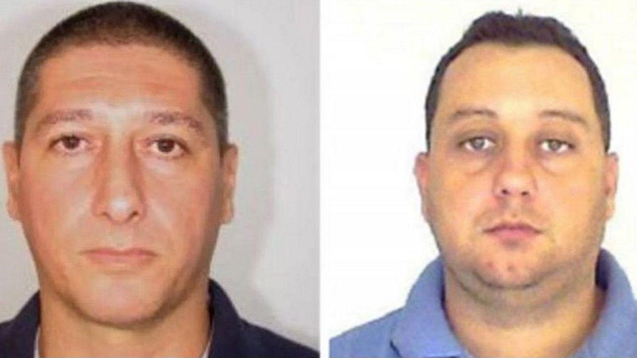 Fotos facilitadas por la policía de Río de los exagentes Ronnie Lessa y Elcio Vieira de Queiroz, detenidos por los asesinatos de la concejala y su conductor