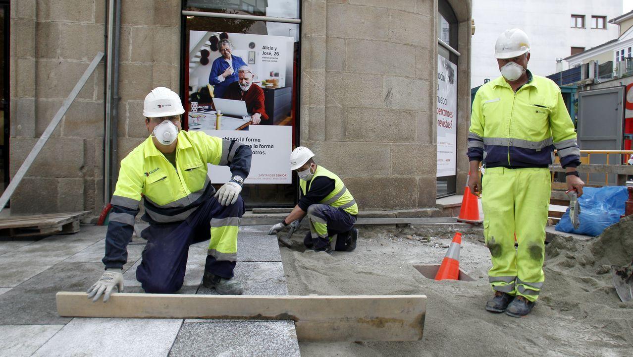 Reparto de mascarillas nun concello galego