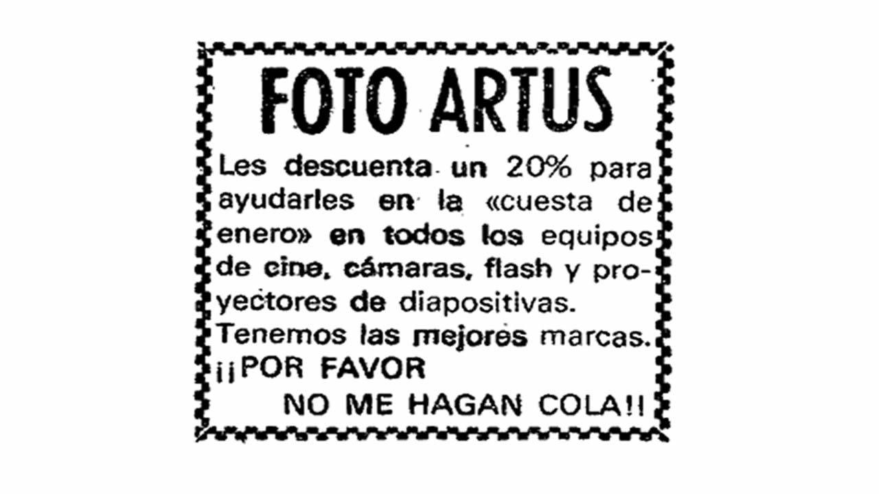 Anuncio publicado en La Voz de Galicia el 26 de diciembre de 1976
