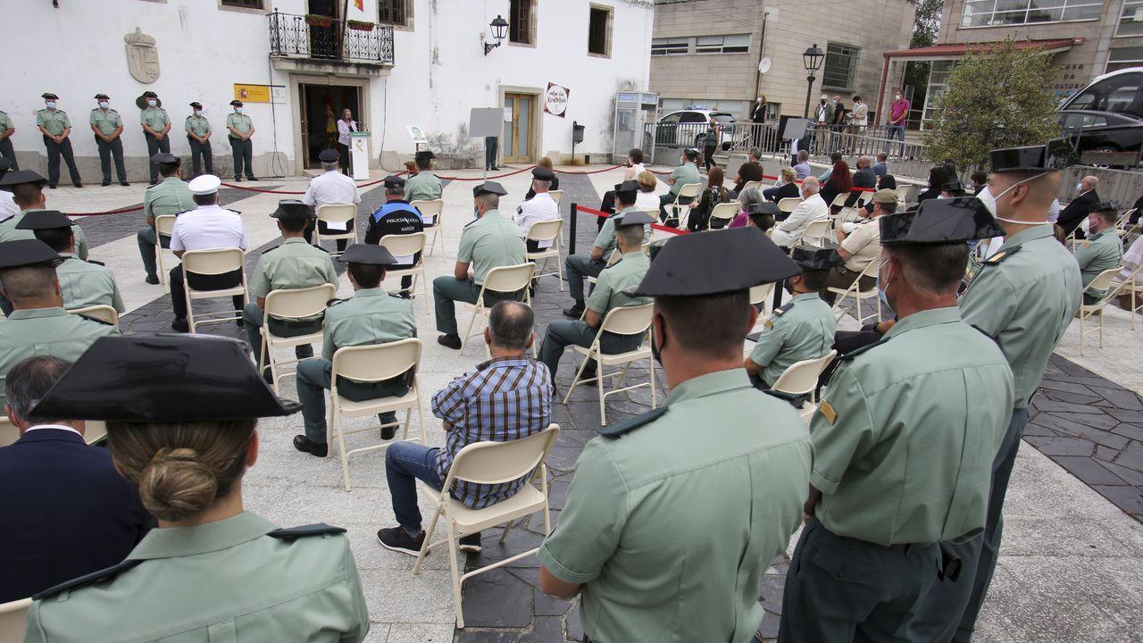 Homenaje de la Guardia Civil en San Sadurniño a una víctima de ETA.Las obras se realizarán desde Quintiá, en Narahío, hasta el límite con el Concello de A Capela