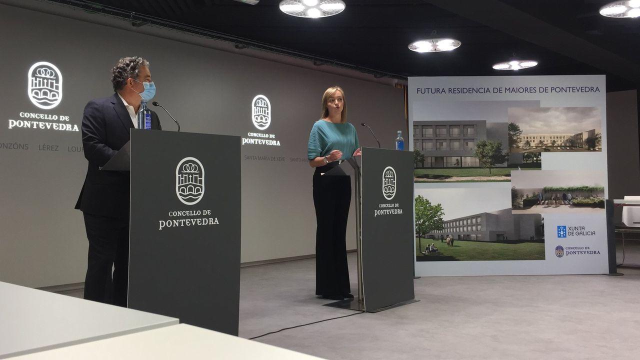 La Fundación Amancio Ortega entrega la escuela Amencer en Bembrive, Vigo.El alcalde y la conselleira de Política Social presentaron el proyecto de residencia para la tercera edad el pasado mes de octubre