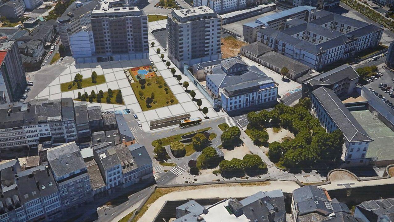 Recreación de cómo quedarían los terrenos de la actual estación de autobuses