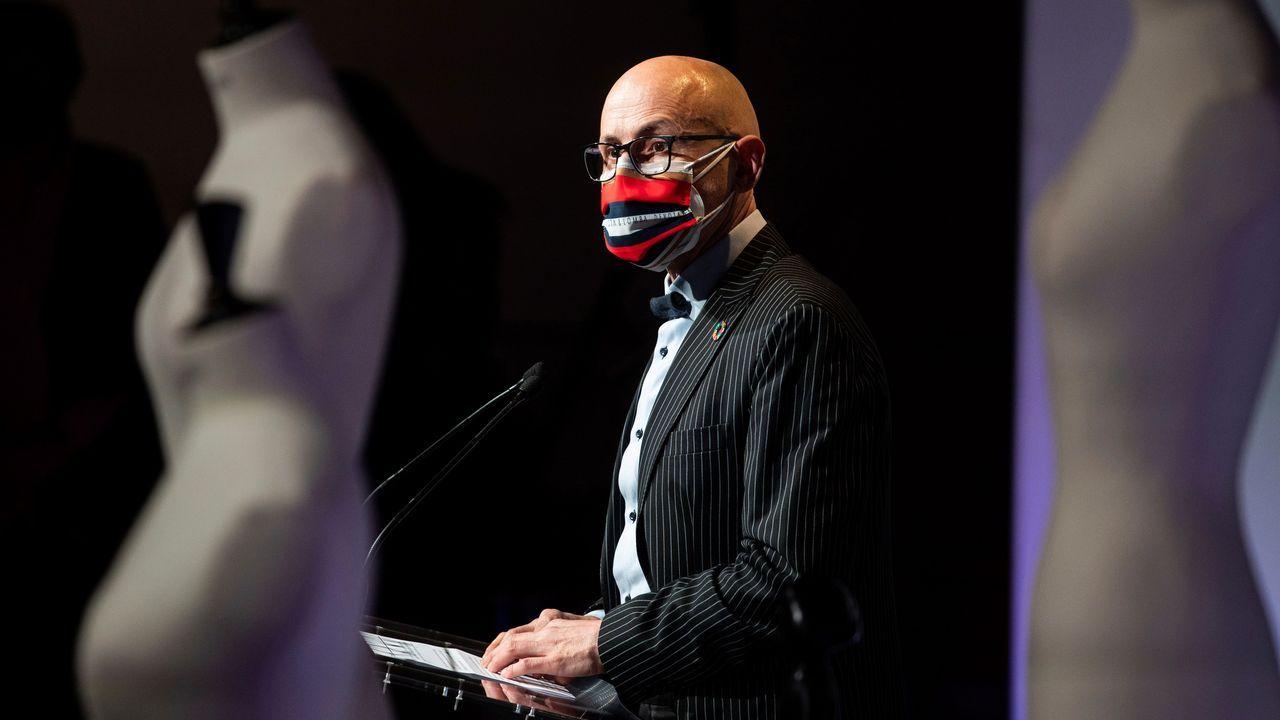 El presidente de la Asociación Creadores de Moda de España (ACME), Modesto Lomba, durante la presentación de la Semana de la Moda de Madrid