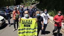 Declaraciones a la salida de reunión de los representantes sindicales de Alcoa y la empresa
