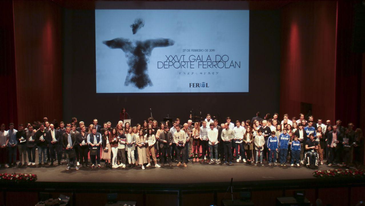 Todos los premiados en la Gala do Deporte de Ferrol