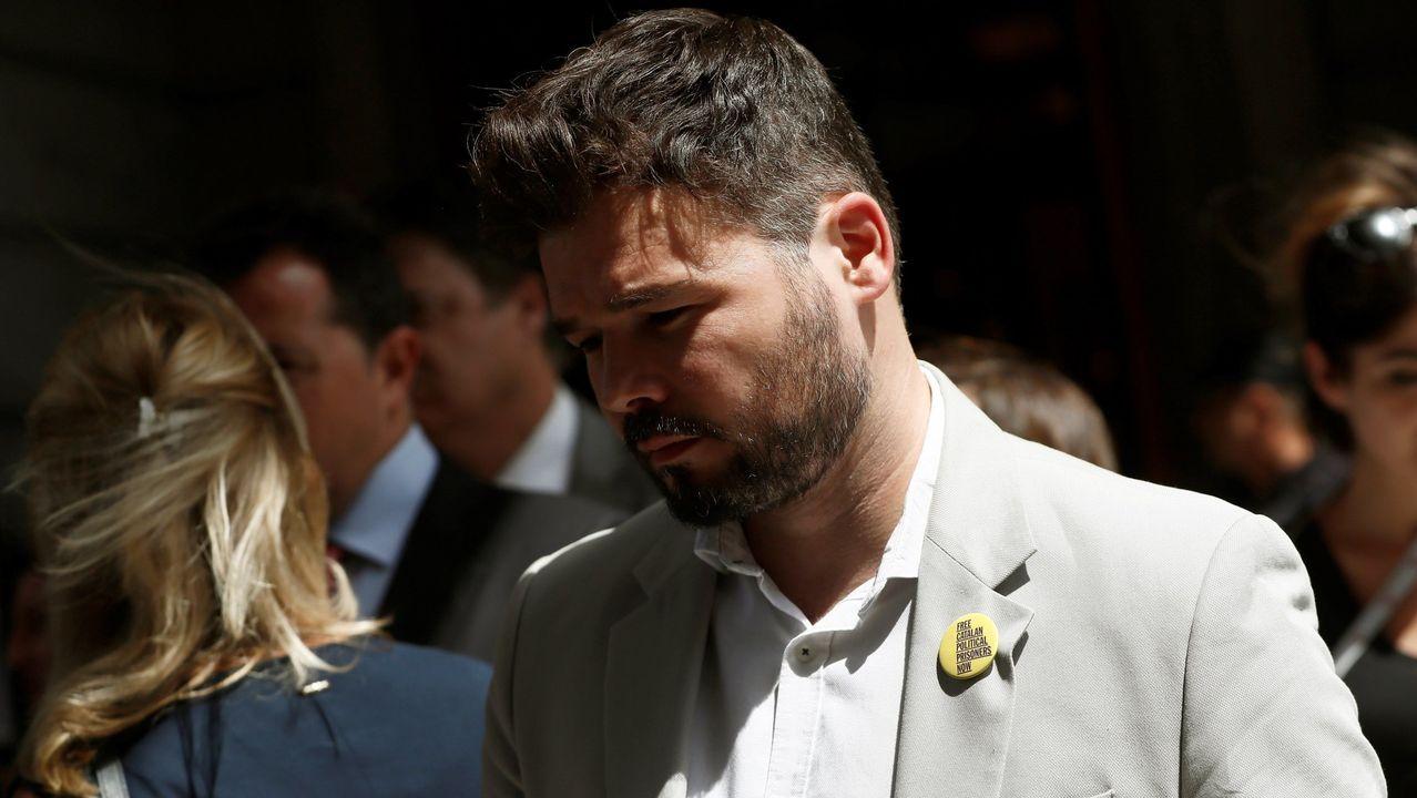 El himno de España se cuela en la ofrenda floral del Govern por la Diada.Gabriel Rufián, portavoz de Esquerra en el Congreso de los Diputados