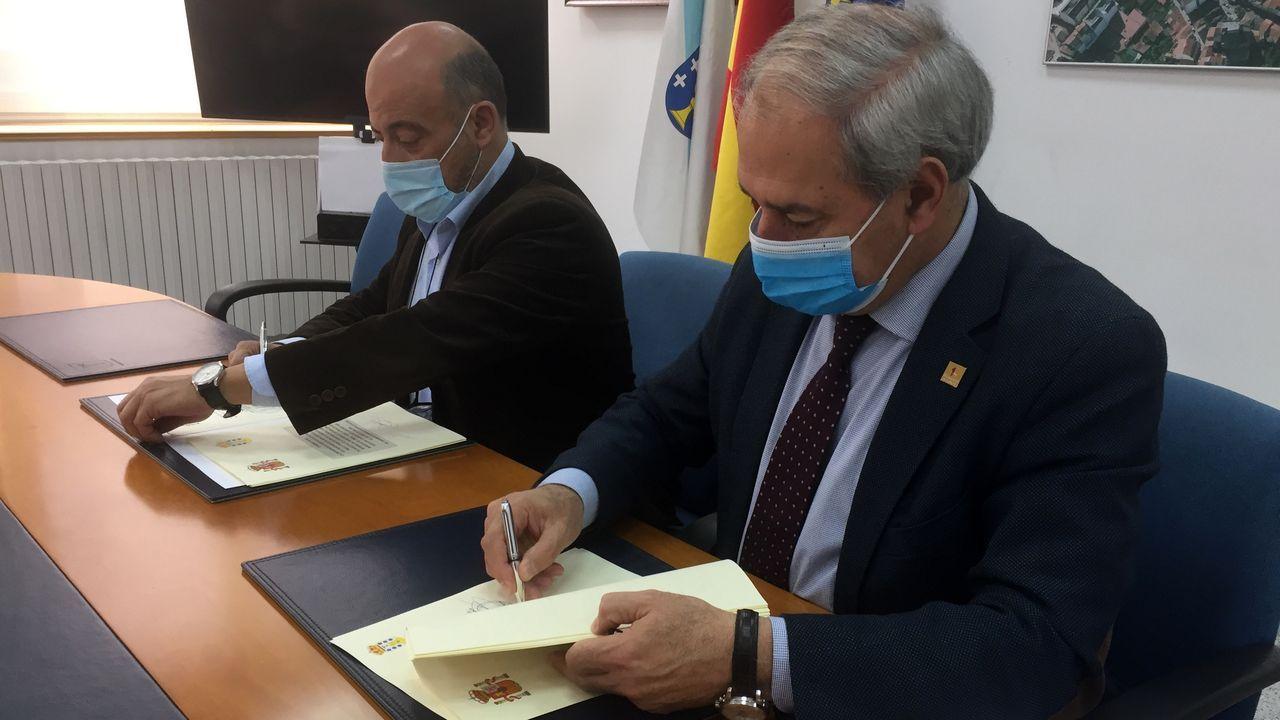 Setas de O Courel que no estaban catalogadas en la península Ibérica y en Galicia.El alcalde de Monforte y el presidente de la Confederacion firman la aportacion de 2,4 millones
