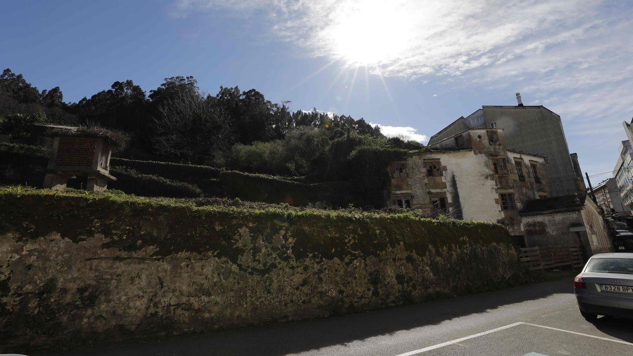 Ruinas del pazo de Malates, en Viveiro