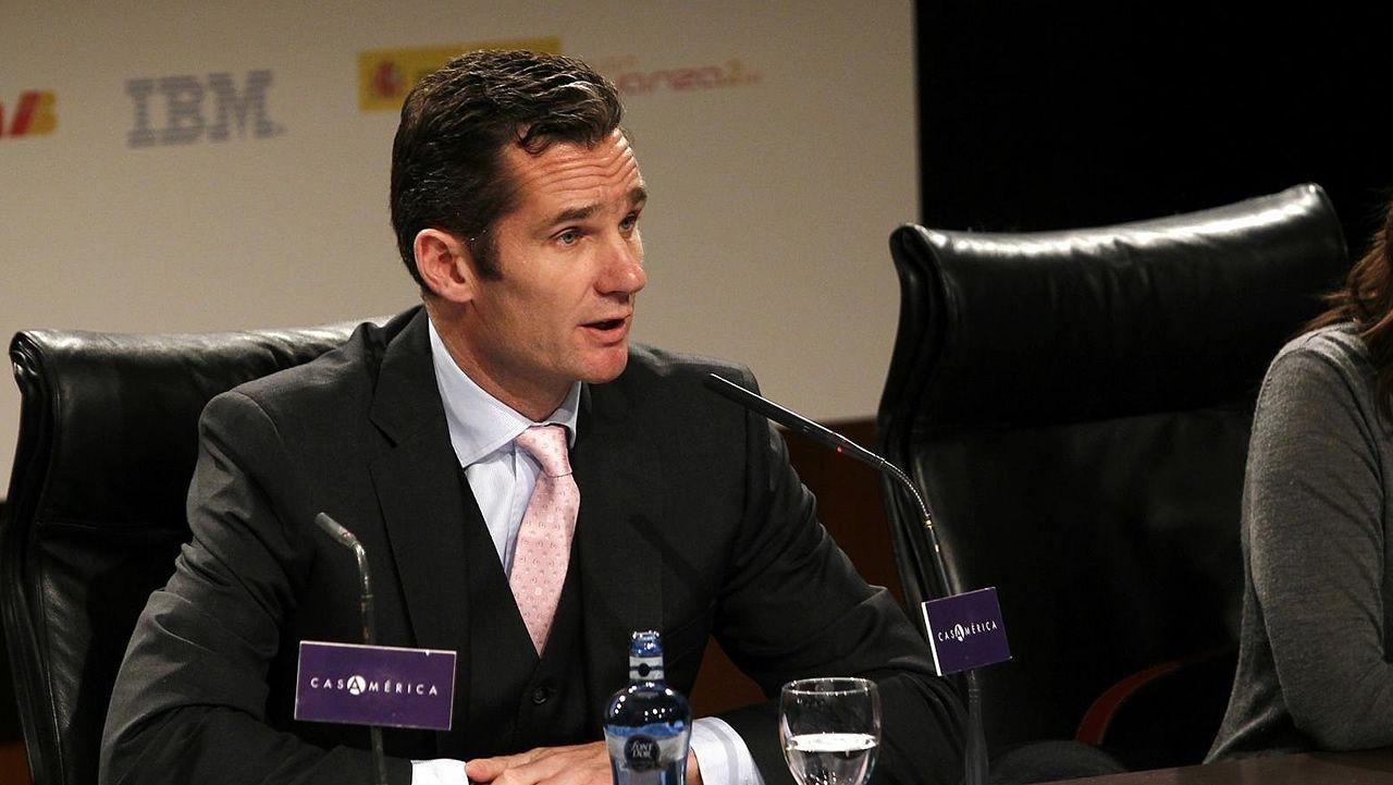 Iñaki Urdangarin.El presidente del Real Madrid y de ACS, Florentino Pérez, y el máximo responsable de OHL, Juan Miguel Villar Mir