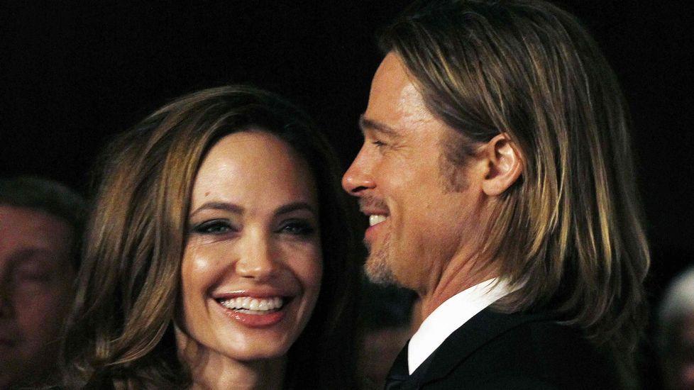 Brad Pitt y Marion Cotillard, durante el acto de promoción de la película que han rodado juntos.