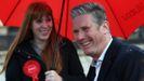 El líder laborista Keir Starmer hizo este miércoles campaña en  Birmingham