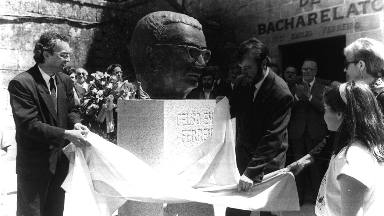 Nueva Biblioteca Pública de Ourense.Misha Bies Golas, nun fotograma de «Longa noite»