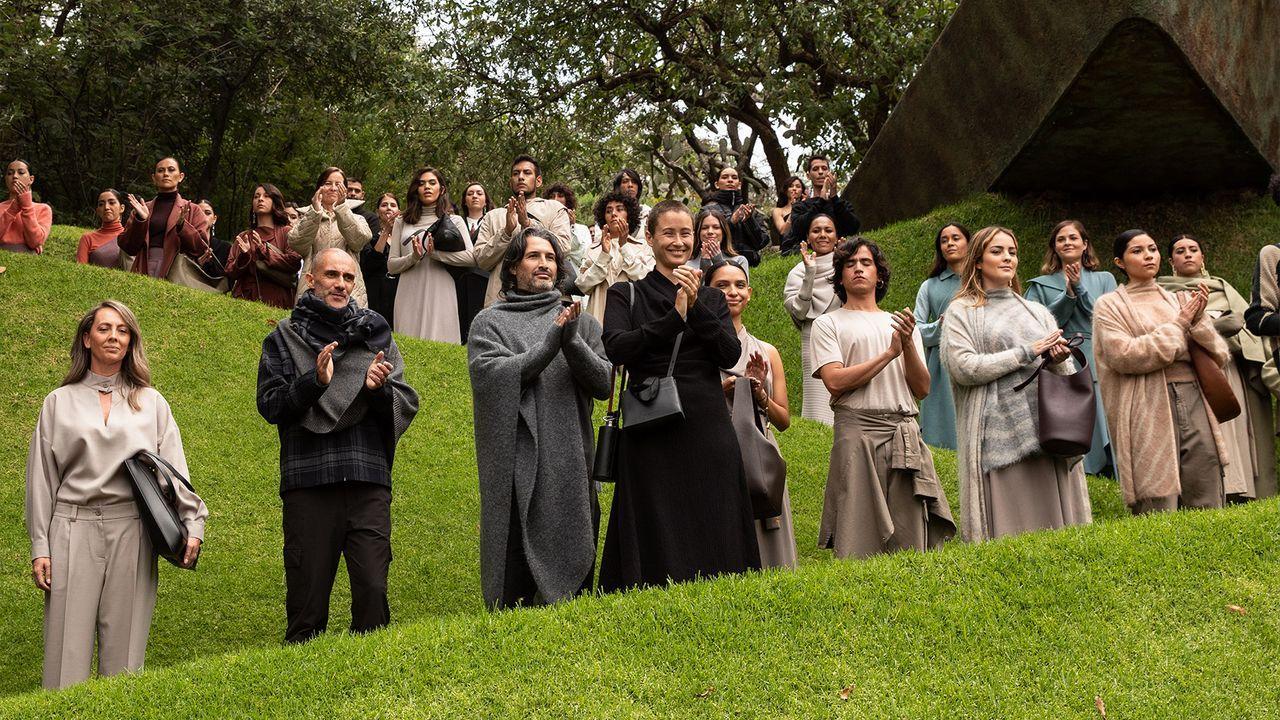 Presentación de la línea «Opti Pro» en el Campus de Lugo.Desfile de Adolfo Domínguez en el parque Quetzalcóalt en México DF