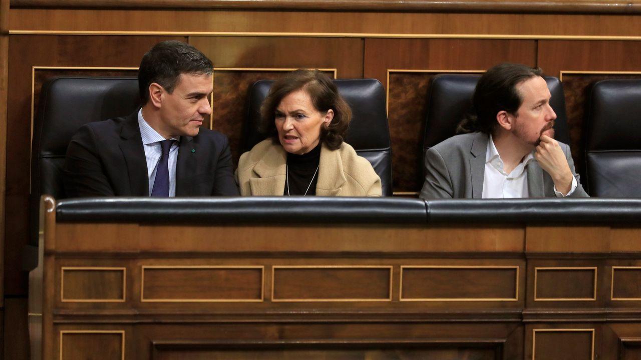 Rueda de prensa de Feijoo tras la reunión interdepartamental del coronavirus.Pedro Sánchez,en la Moncloa