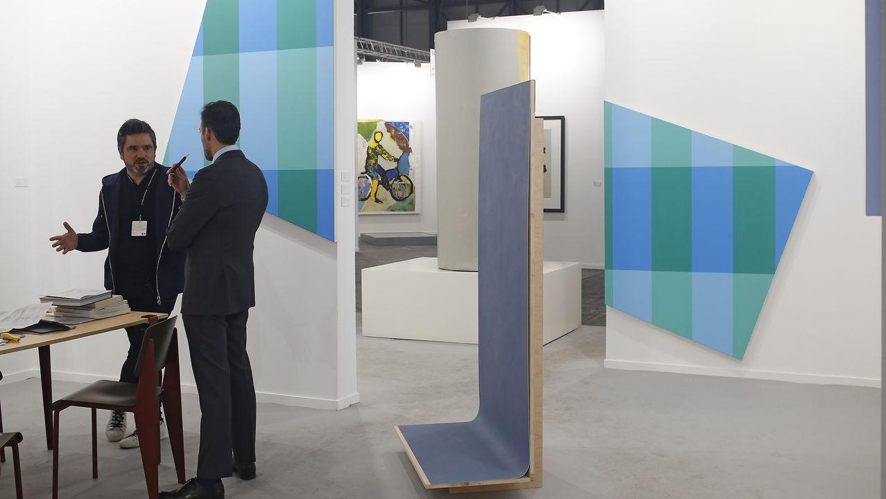 Stéphane Dafflon y Martina Klein en la siempre elegante galería Parra & Romero
