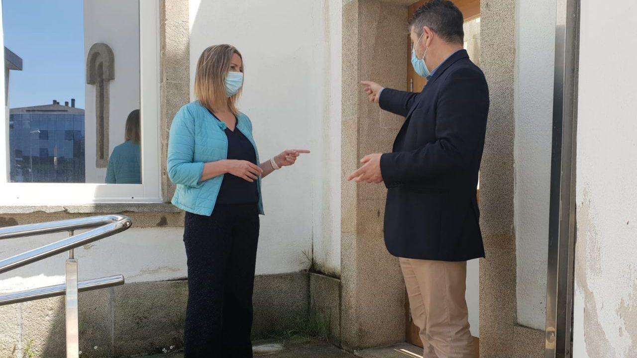 Alcaldesa de Lugo e edil de Urbanismo de Lugo en las dependencias de O Vello Cárcere