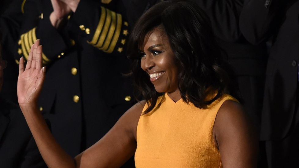 La visita de Obama a Argentina.Michelle Obama, durante el último debate sobre el Estado de la Unión de su marido como presidente del Gobierno