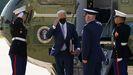 Joe Biden, a su llegada en el Marine One a Delaware.