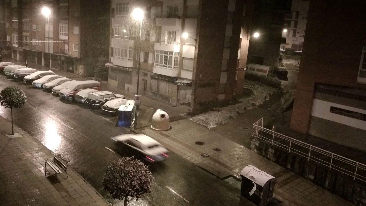Nieve en Oviedo.Nieve en Avilés
