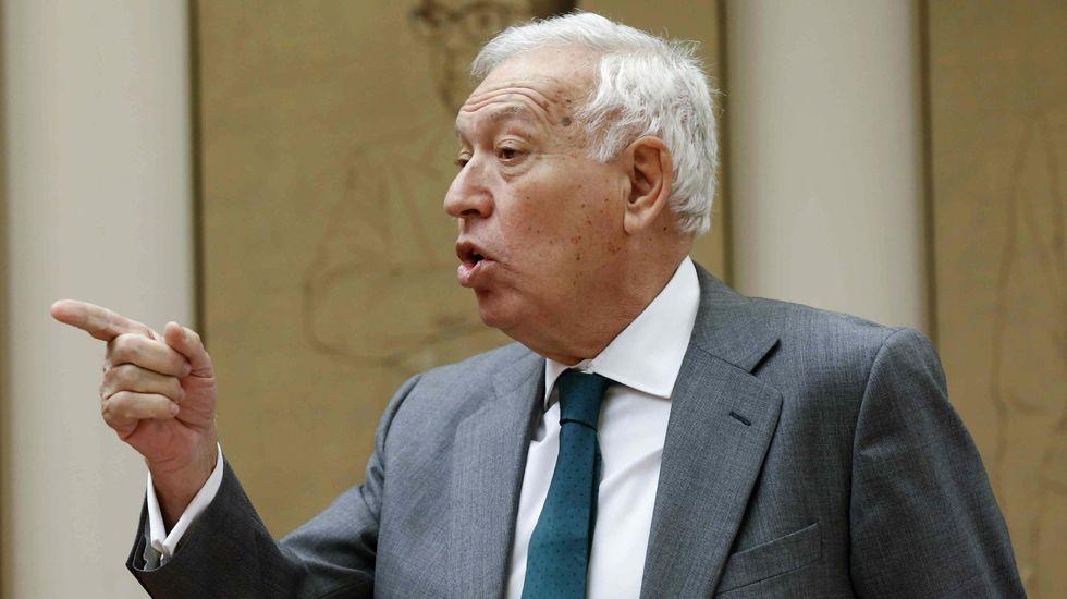 Margallo.El diputado socialista Rafael Simancas, en una intervención en el Congreso.