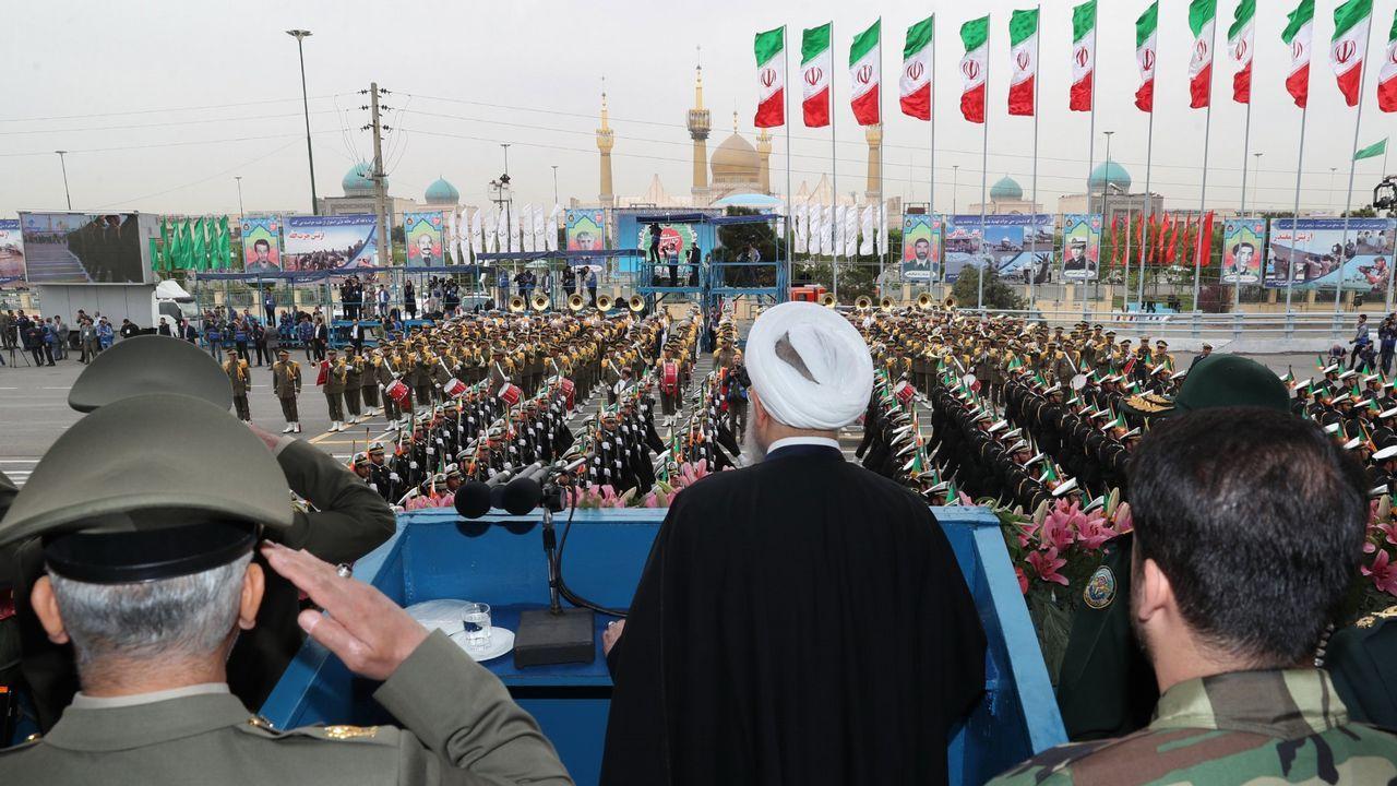 El presidente iraní, Hassan Rouhani, durante su discurso con motivo del Día Nacional del Ejército, el pasado 18 de abril