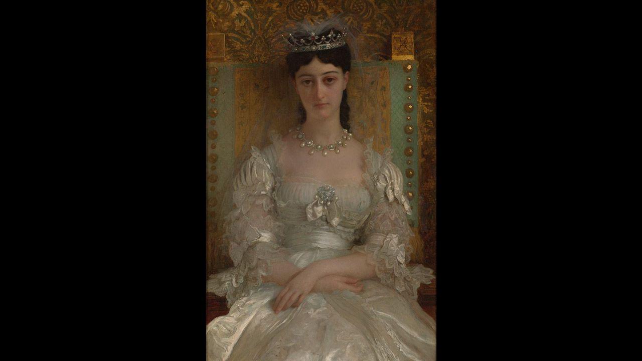 Retrato de Julia Fernanda Dominé y Desmaisières, X Marquesa de Jabalquinto (1872), de Ernest Hébert. Colección Villagonzalo