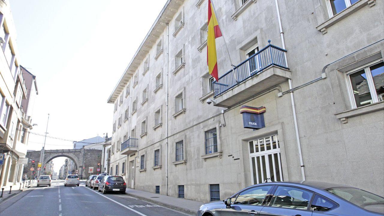 Exterior de la Comisaría de Lugo