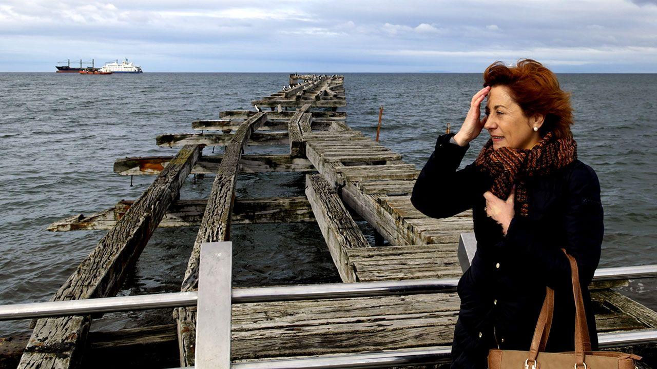 Carmen Moreno, en el Estrecho de Magallanes