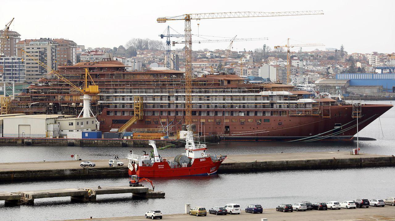 astilleros Vigo.Douglas Prothero, consejero delegado de Cruise Yacht 1, la sociedad que controlará Barreras