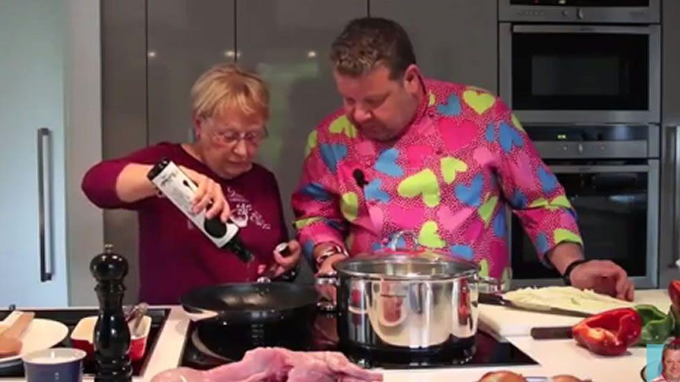 Alberto Chicote y su madre | Receta de conejo