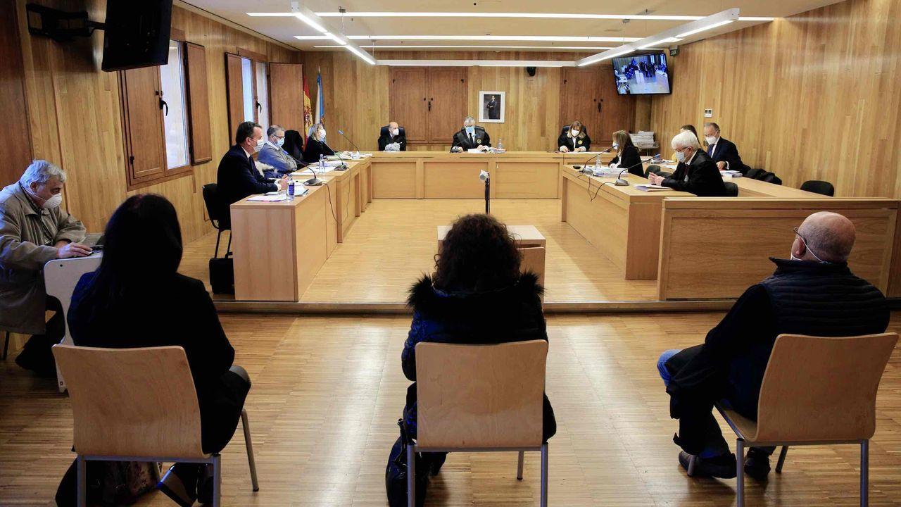 La sesión de este martes en la Audiencia Provincial de Lugo