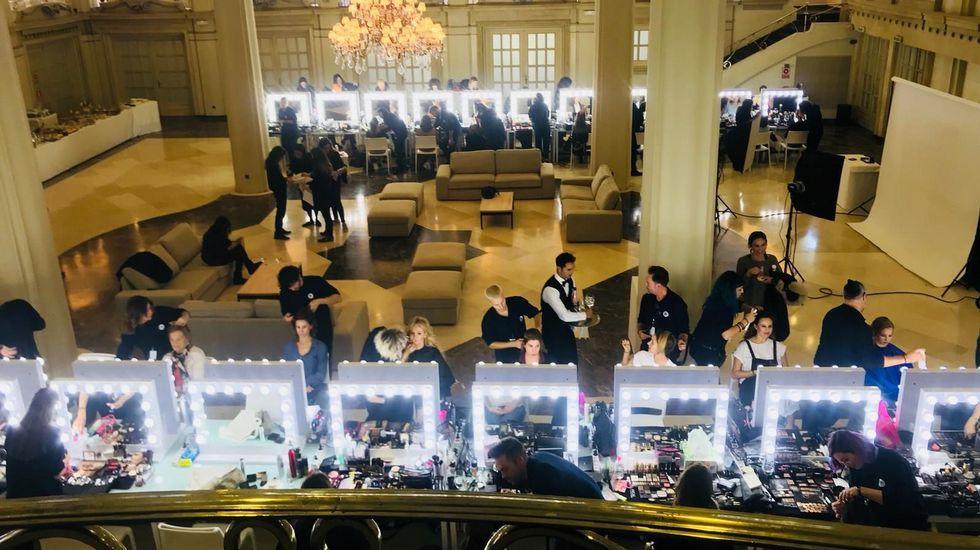 DESPLIEGUE. Un amplioservicio de peluquería ymaquillaje se puso a disposición en elhotel Finisterre