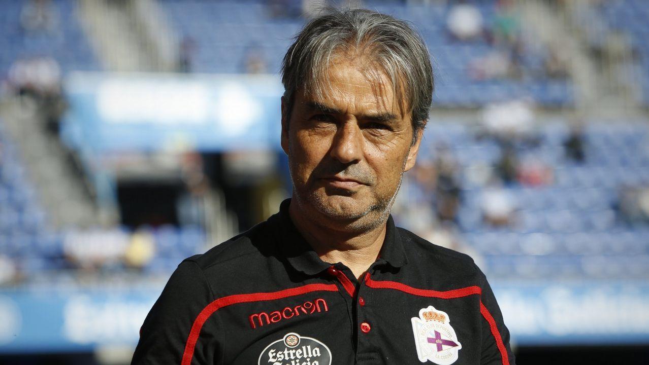 Las imágenes del Deportivo - Zaragoza.Saúl ha pasado de descartado a habitual en los planes del Deportivo