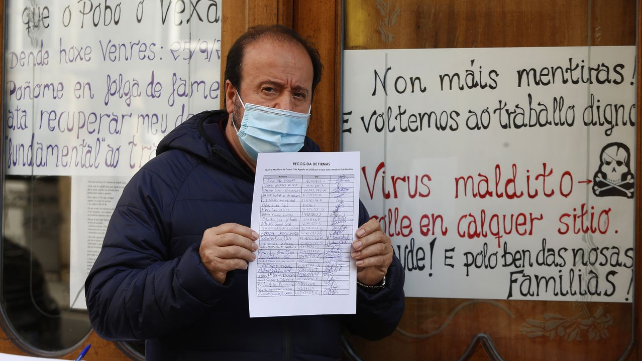En la foto, Enrique Míguez durante la presentación de una campaña en el Chuac