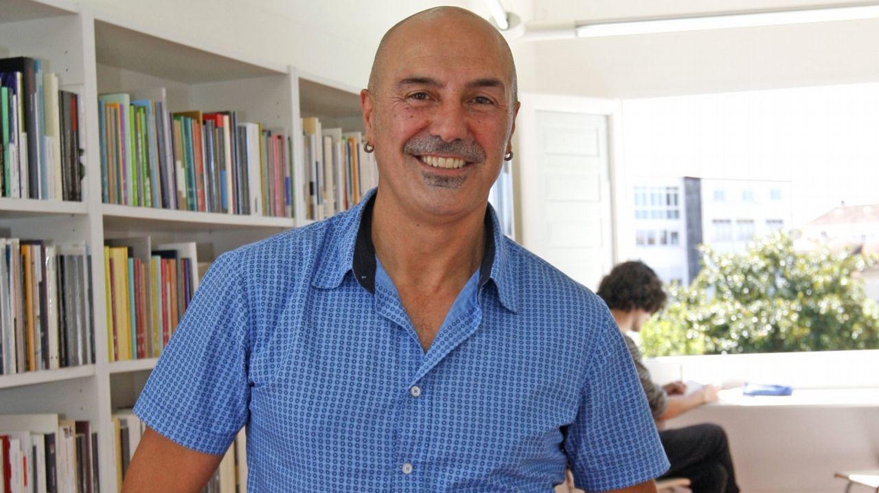 O escritor Gonzalo Hermo (Taragoña, Rianxo, 1987)