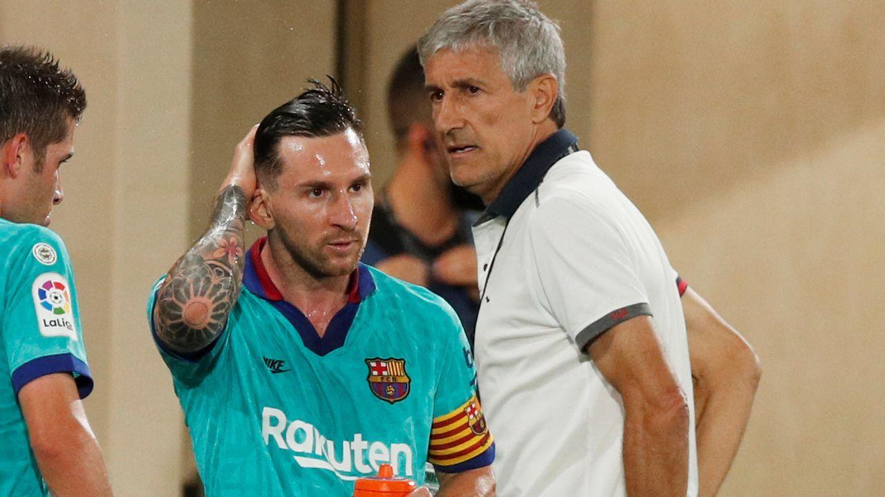 Vicente Celeiro, tras el gol que le marcó al Racing sellando la permanencia del Deportivo