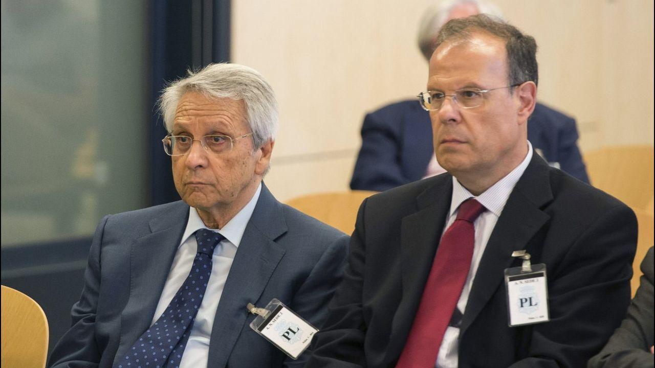 Julio Fernández Gayoso y José Luis Pego, en la Audiencia Nacional