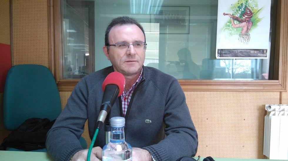 Eduardo Parga, portavoz del PP, en una visita a Radio Voz antes de la pandemia