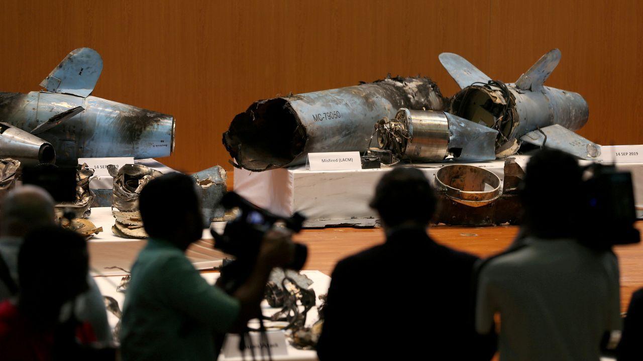 Una de la zona de la ORA en Gijón.El Gobierno de Riad mostró los restos de misiles que supuestamente avalarían la acusación contra Irán
