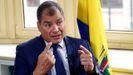 Rafael Correa, durante una entrevista en el 2019, en Bruselas