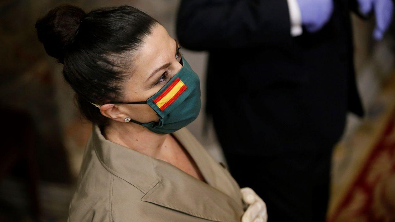 Isabel Serra, durante un mitin de la pasada campaña electoral
