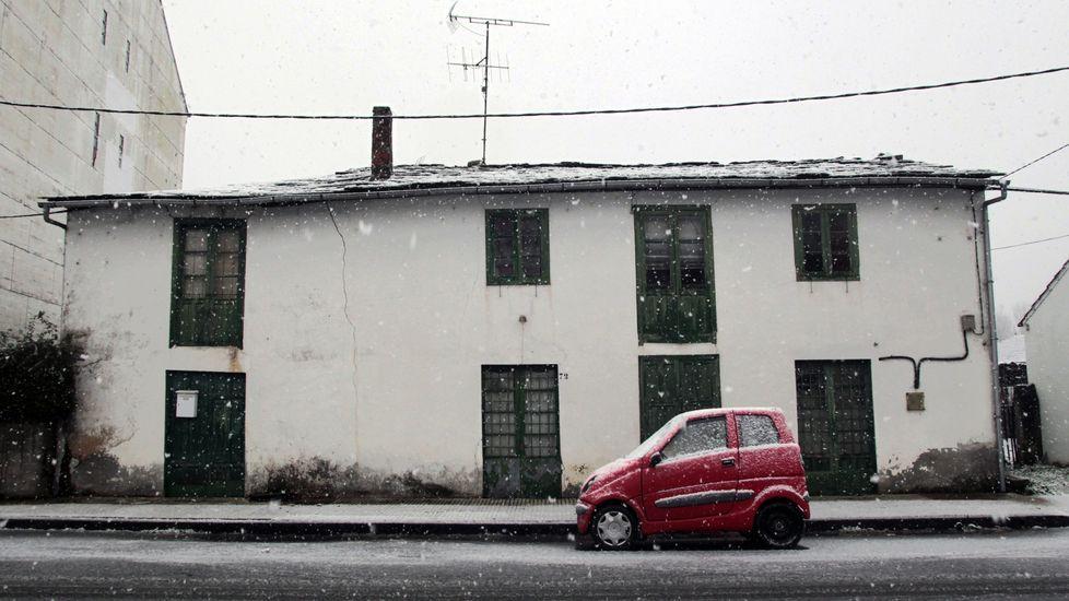 La nevada fue intensa en Bóveda