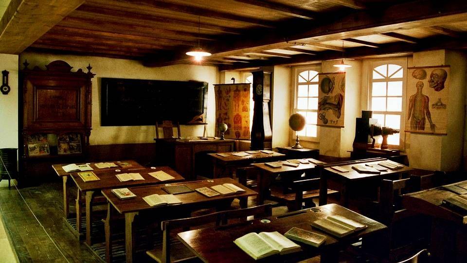 Aula do Museo Pedagóxico de Galicia
