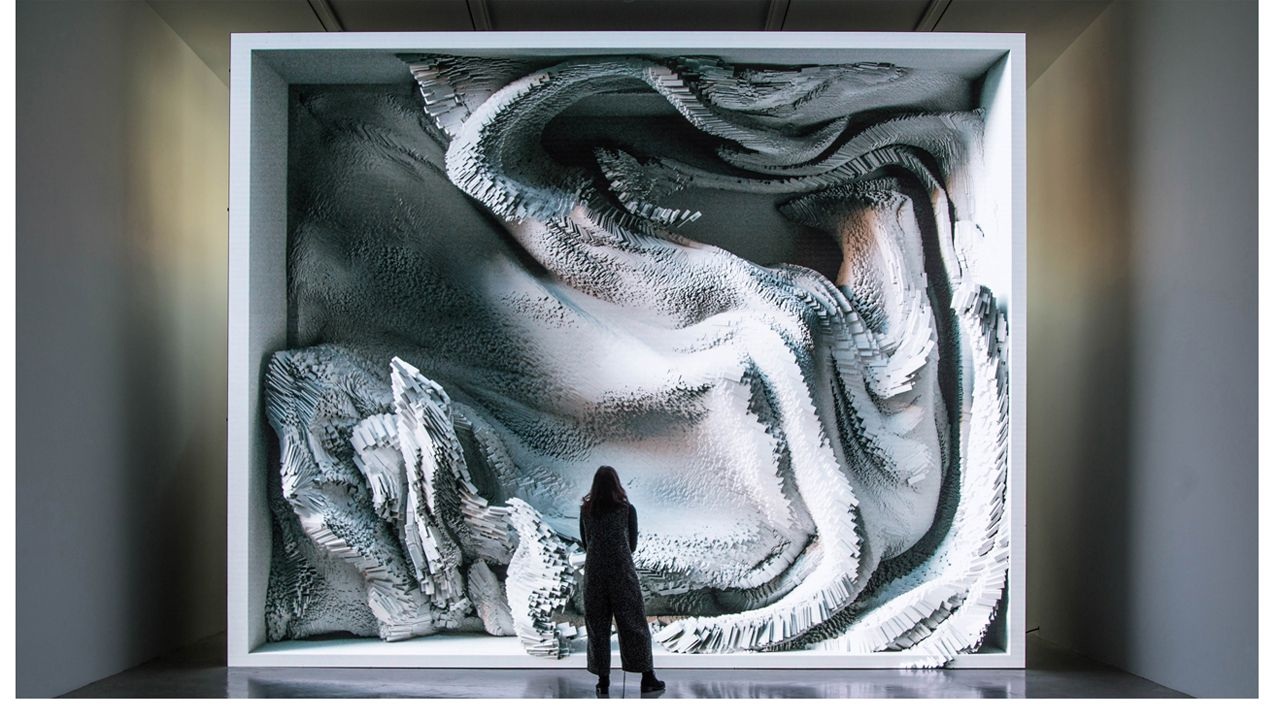 Melting Memories: Engram as data sculpture, de Refik Anadol
