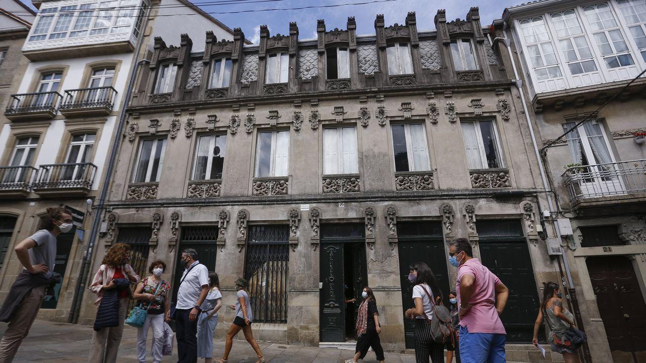 Exterior de un edificio okupado