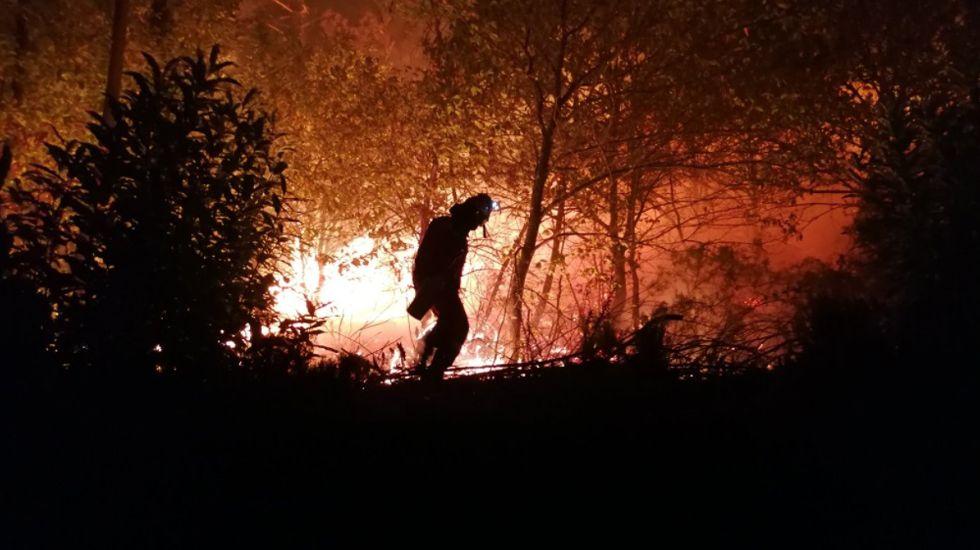 La UME lucha contra el fuego en Asturias y Galicia