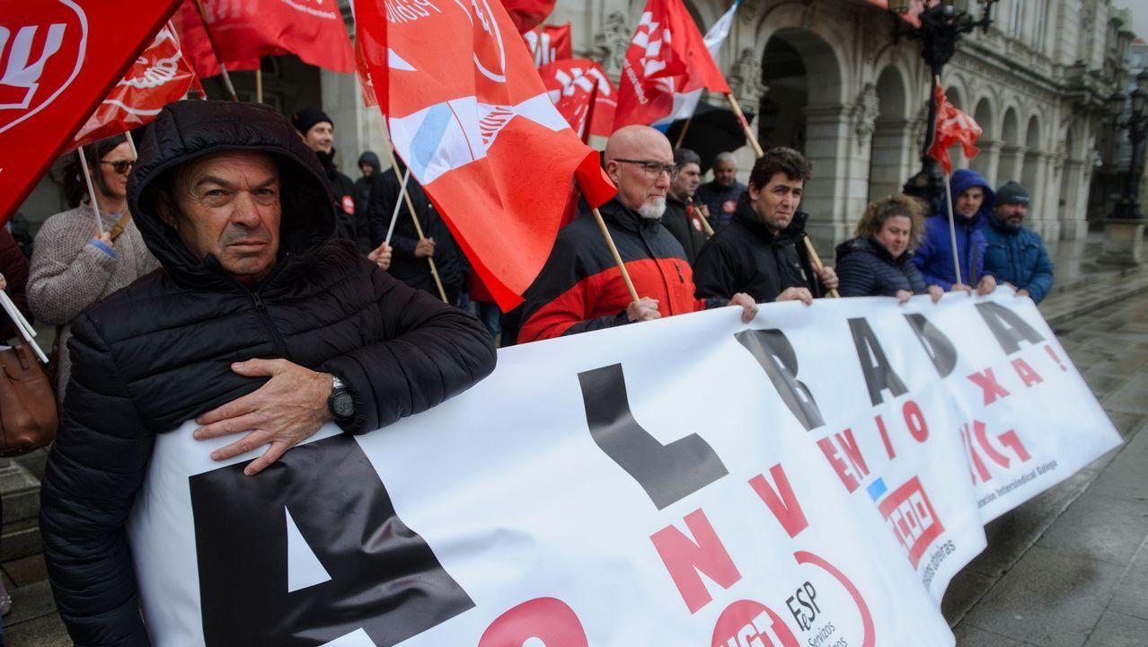 Protesta de trabajadores de Albada