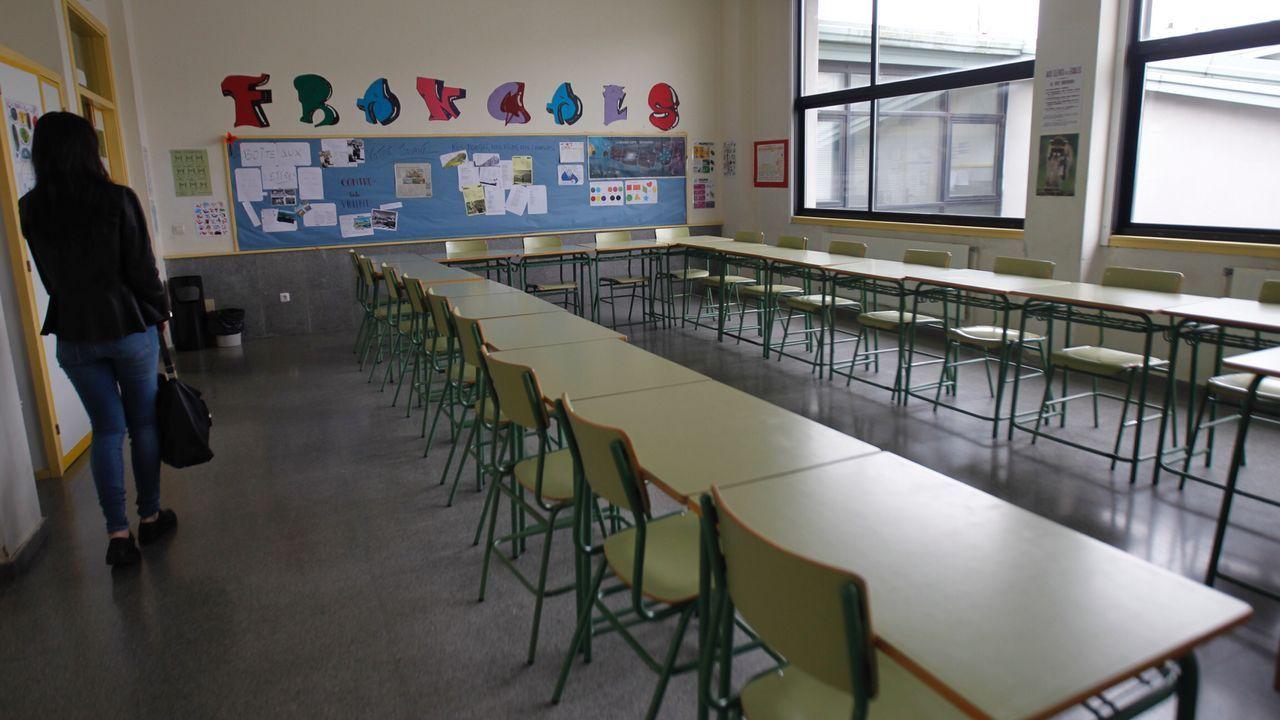Aulas vacías en el IES de Sar