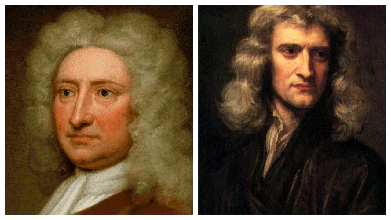 Edmund Halley e Isaac Newton