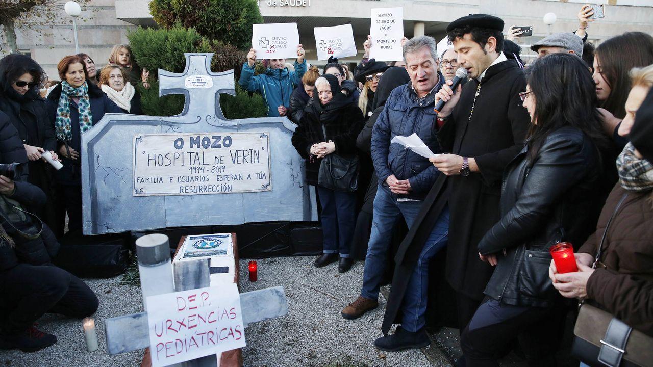 Protesta de los trabajdores de los supermercados frente al Sasec
